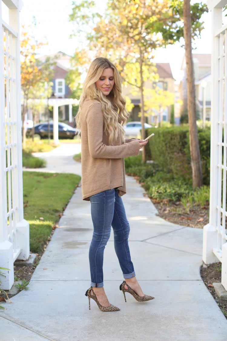 Camel Cowl Neck Sweater | Sapphire Diaries