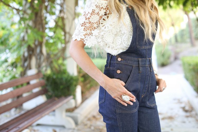Madewell Flare Overalls | Sapphire Diaries