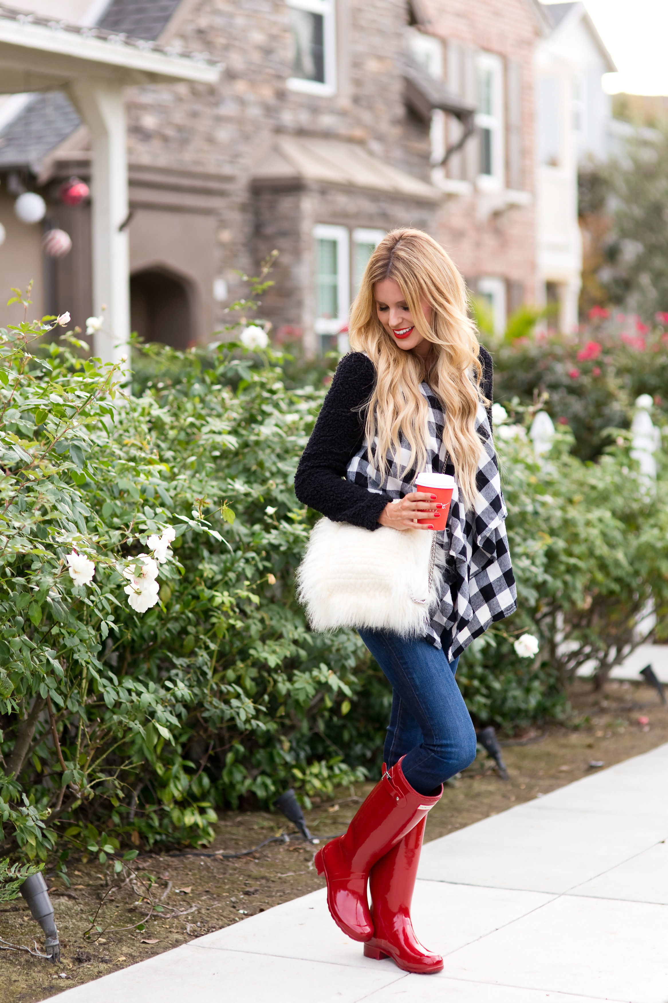 Red Hunter Boots - Sapphire Diaries