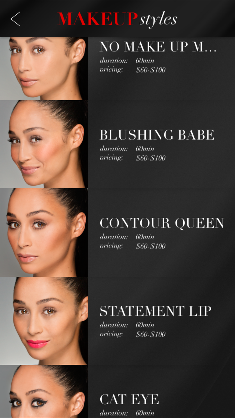 The Glam App Makeup Styles