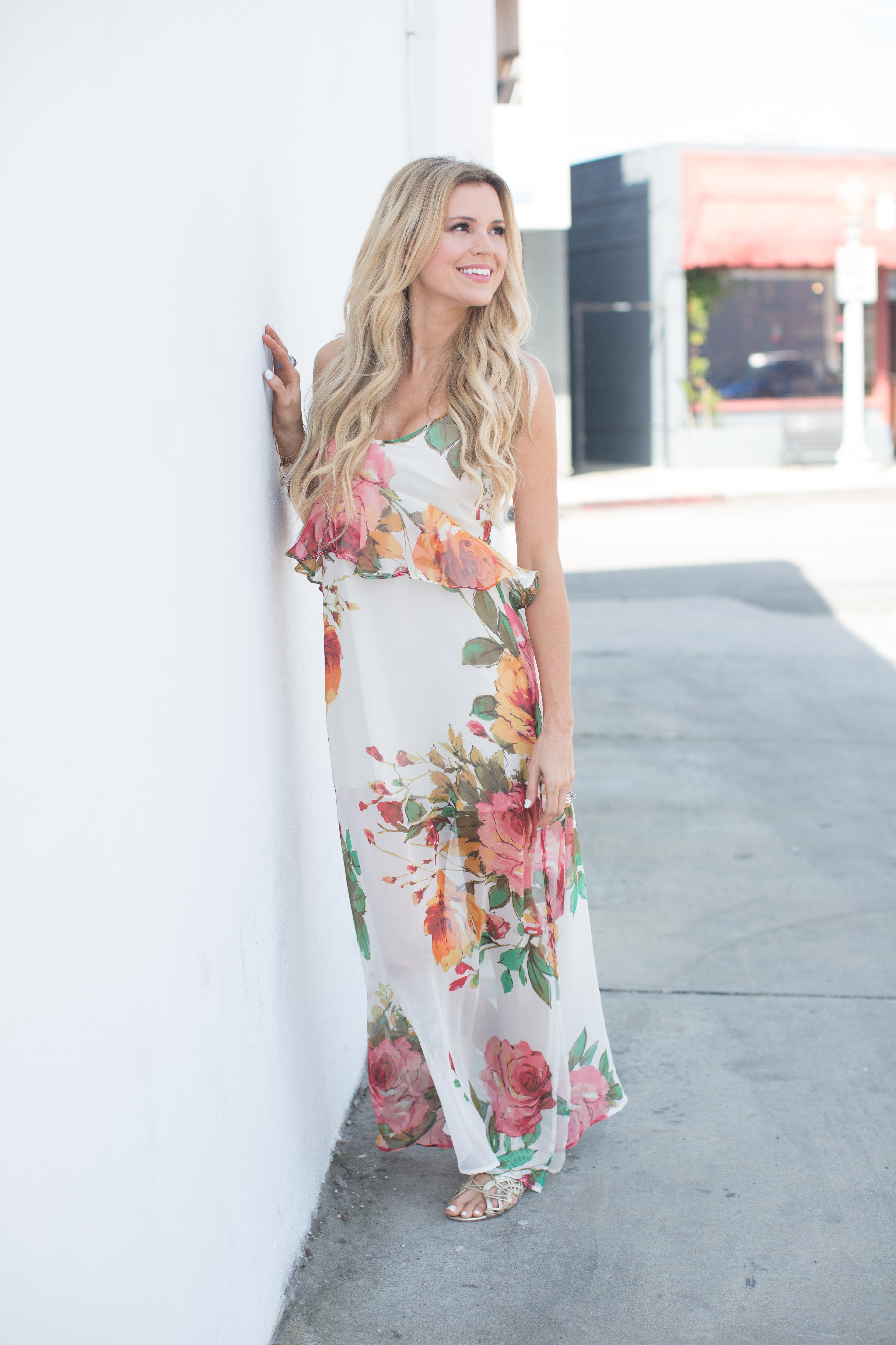Roe + May Floral Dress