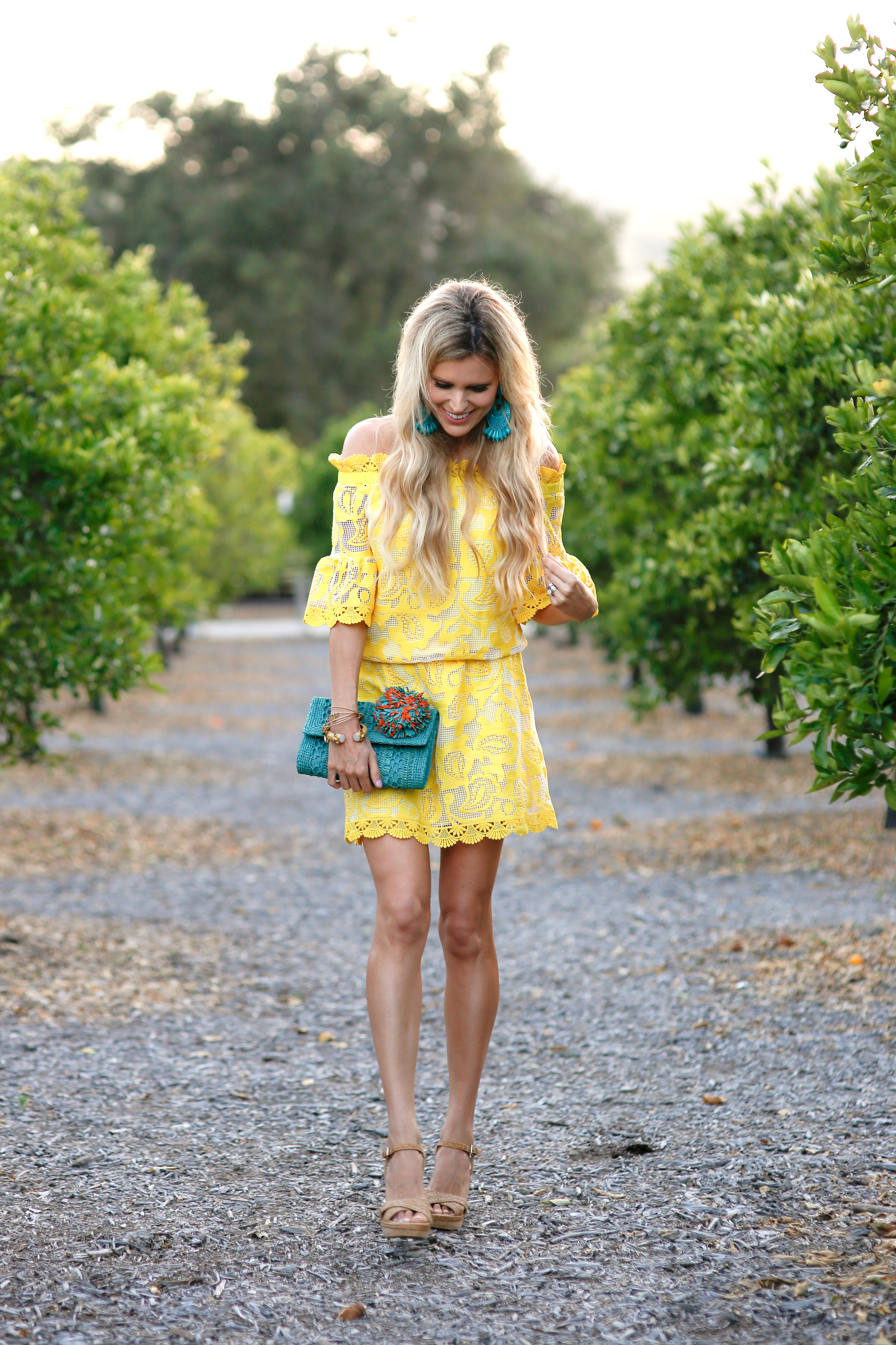Yellow Off the Shoulder Dress - Sapphire Diaries