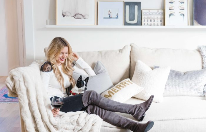 Peek into our Holiday Living Room with Minted