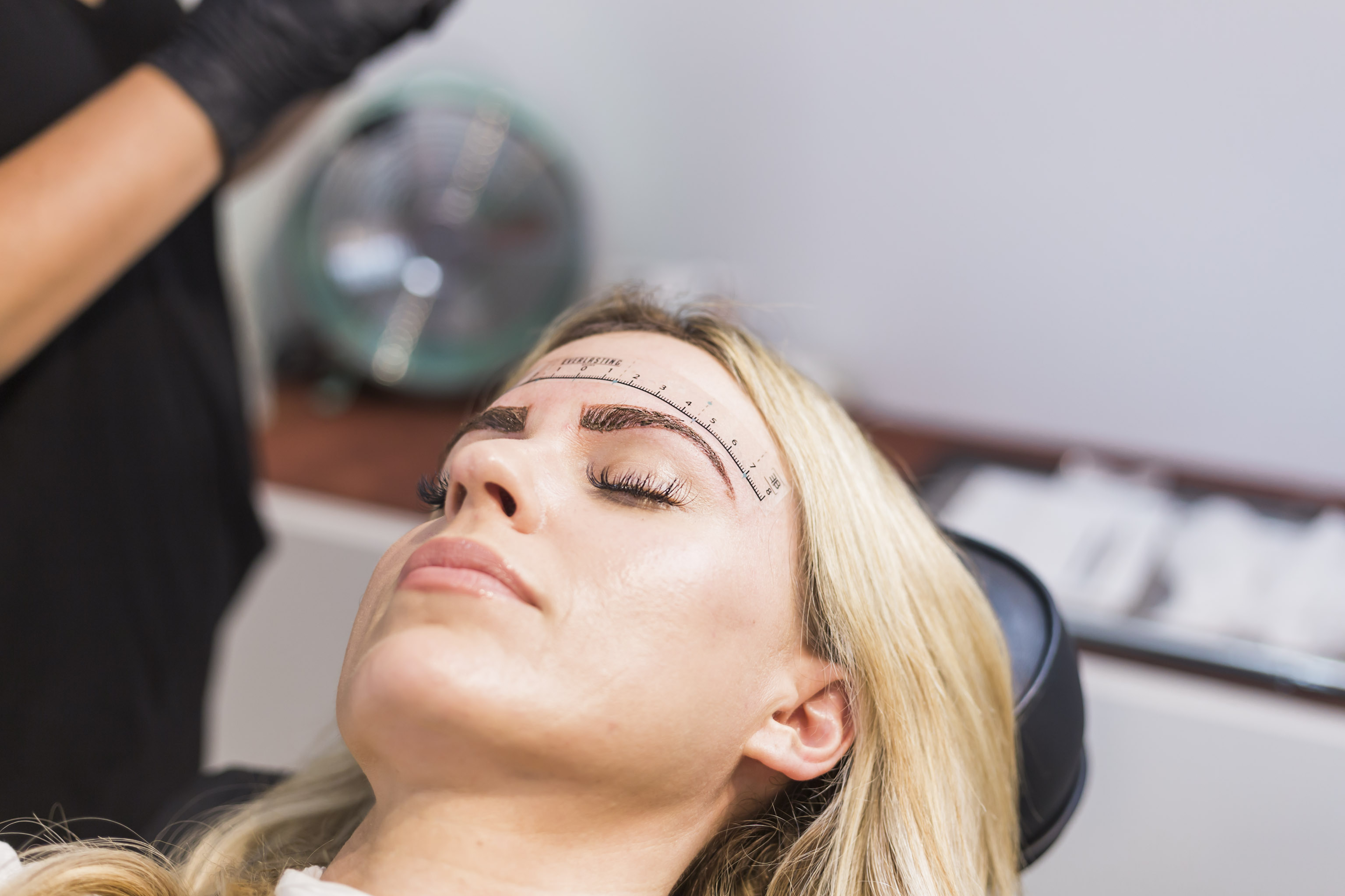 results immediately after microblading