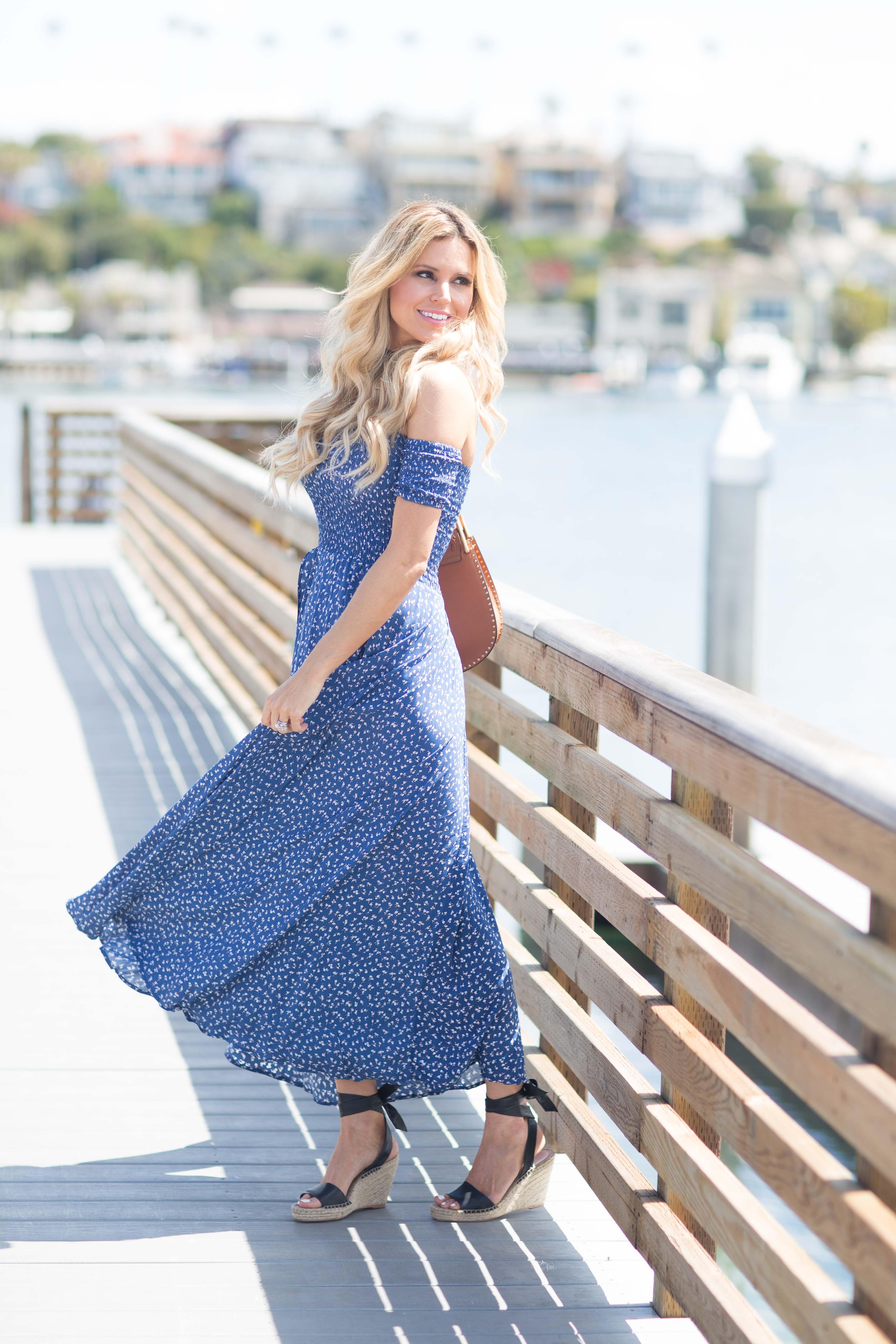 f133b8146d69 Auguste Blue Boheme Goddess Maxi Dress